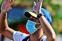10th July 2020; Styria, Austria; FIA Formula One World Championship 2020, Grand Prix of Styria free practice sessions;  3 Daniel Ricciardo AUS, Renault DP World F1 Team waves to the crowd