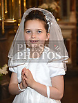 Sinead O'Driscoll from Scoil Aonghuasa who recieved First Holy Communion at St. Peter's church. Photo:Colin Bell/pressphotos.ie