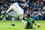 Real Madrid's player Cristiano Ronaldo and Leganes's  player Unai Bustinza during a match of La Liga at Santiago Bernabeu Stadium in Madrid. November 06, Spain. 2016. (ALTERPHOTOS/BorjaB.Hojas)