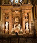 Altar inside cathedral church Malaga Spain - Santa Iglesia Catedral Basílica de la Encarnación