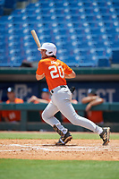 Cooper Kinney (20) of Baylor High School in Chattanooga, TN during the Perfect Game National Showcase at Hoover Metropolitan Stadium on June 20, 2020 in Hoover, Alabama. (Mike Janes/Four Seam Images)