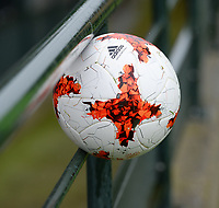 20170914 - TUBIZE ,  BELGIUM : Adidas Ball pictured during the friendly female soccer game between the Belgian Red Flames and European Champion The Netherlands , a friendly game in the preparation for the World Championship qualification round for France 2019, Thurssday 14 th September 2017 at Euro 2000 Center in Tubize , Belgium. PHOTO SPORTPIX.BE | DAVID CATRY