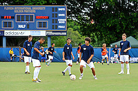 2 October 2011:  FIU's team warms up prior to the match.  The FIU Golden Panthers defeated the University of Kentucky Wildcats, 1-0 in overtime, at University Park Stadium in Miami, Florida.