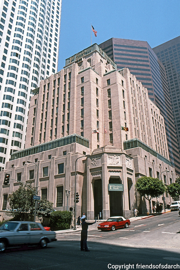 "Los Angeles: Southern California Edison, now ""One Bunker Hill""--1931. NW Corner of S. Grand & W. Fifth.  Allison & Allison. Photo '89."