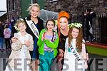 l-r Emer Mahoney, Evangeline O'Dowd, Maria Nix's, Charlotte O'Connor and Katie Henihan at the Cloghane/Brandon annual Féile Lúghnasa Fancy Dress Parade on Sunday