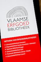 Promotional banner for the Vlaamse Erfgoedbibliotheek vzw (Belgium, 25/04/2010)