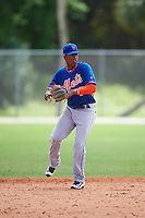 New York Mets Milton Ramos (7) during a minor league Spring Training game against the St. Louis Cardinals on March 31, 2016 at Roger Dean Sports Complex in Jupiter, Florida.  (Mike Janes/Four Seam Images)