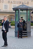 Rocco Casalino, ufficio stampa  del Movimento Cinque Stelle, davanti a Montecitorio<br /> Rocco Casalino, press office of the Five Star Movement, in front of Montecitorio