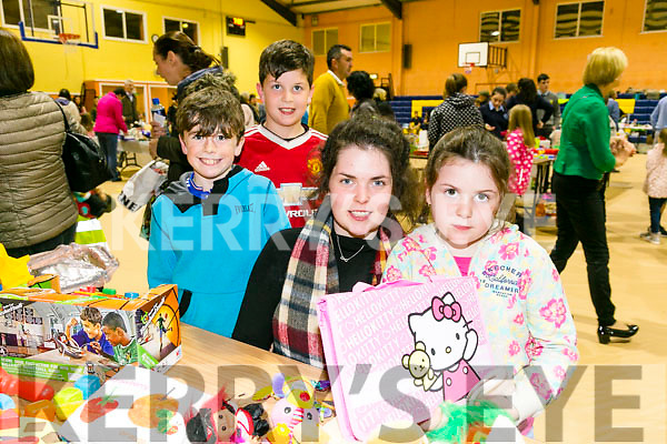 At Indoor Market to support the local branch of Kerry Parents & Friends at the Castleisland Community Centre on Friday were Katelyn Nolan, Aideen Nolan, Eoin Shire and Finn Nolan