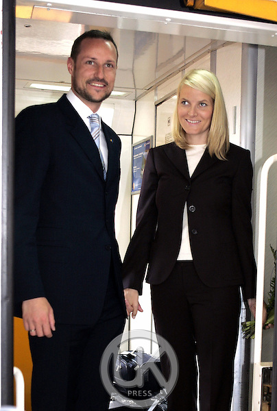 Crown Prince Haakon & Crown Princess Mette-Marit of Norway's three-day visit to Poland..Leaving Krakow Station, headed for Warsaw, at the end of their trip..