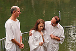 Israel, Jordan Valley, Baptism ceremony in Yardenit