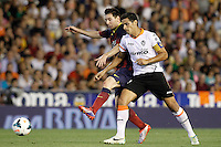 Valencia's Ricardo Costa (r) and FC Barcelona's Leo Messi during La Liga match.September 1,2013. (ALTERPHOTOS/Acero) <br /> Football Calcio 2013/2014<br /> La Liga Spagna<br /> Foto Alterphotos / Insidefoto <br /> ITALY ONLY