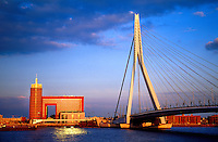 Erasmusbrug (bridge) across the Nieuwe Maas River, Rotterdam, the Netherlands