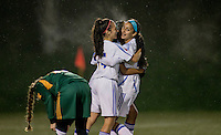 14 November 2015:  Action during a women's CIS Semi-Final soccer game between Sherbrooke University and the University of British Columbia at Thunderbird Stadium, University of British Columbia, Vancouver, BC, Canada. UBC won 2-0  ****(Photo by Bob Frid/UBC Athletics 2015 All Rights Reserved)