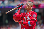 21 June 2015: Washington Nationals shortstop Ian Desmond prepares for his plate appearance during game action against the Pittsburgh Pirates at Nationals Park in Washington, DC. The Nationals defeated the Pirates 9-2 to sweep their 3-game weekend series, and improve their record to 37-33. Mandatory Credit: Ed Wolfstein Photo *** RAW (NEF) Image File Available ***