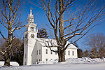 The town meetinghouse in Jaffrey Center, Monadnock Region, NH, USA