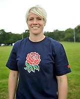 Drybrook, England. Danielle Waterman during the RFU and Canterbury Official launch of the new season's England kit at Drybrook RFC Mannings Ground, Gloucestershire, England on September 19, 2012