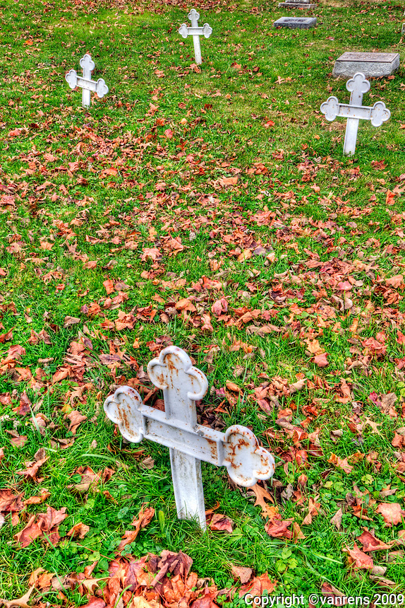 Burial Cross for the Monks of at Gethsemani Abbey in Trappist , Kentucky