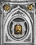 Head of John the Baptist, Church of Santa Croce, Vinici, Italy<br /> <br /> Church where Leonardo was baptized as a child in the 15th century