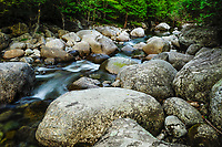 Large Boulders Along The North Fork Of The Boquet River In The Adirondack Mountains Of New York State