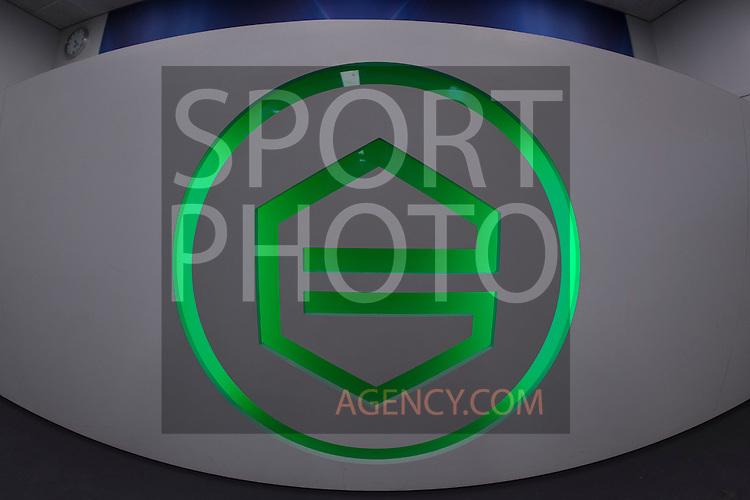 (L-R), Perstafel, Persconferentie, logo,