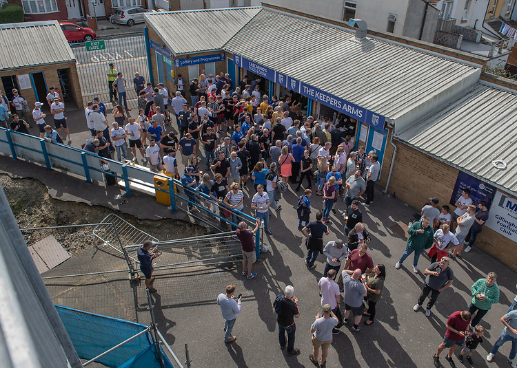 Bolton fans<br /> <br /> Photographer David Horton/CameraSport<br /> <br /> The EFL Sky Bet League One - Gillingham v Bolton Wanderers - Saturday 31st August 2019 - Priestfield Stadium - Gillingham<br /> <br /> World Copyright © 2019 CameraSport. All rights reserved. 43 Linden Ave. Countesthorpe. Leicester. England. LE8 5PG - Tel: +44 (0) 116 277 4147 - admin@camerasport.com - www.camerasport.com