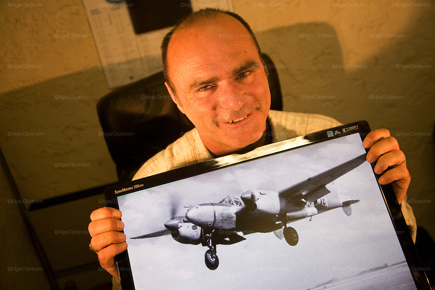 The mystery of Antoine Saint Exupery's disappearance is most likely solved by the testimony of a former Luftwaffe Messerschmitt pilot, Horst Rippert, who attests to shooting down the famous author of 'The Little Prince', who was flying a twin-tailed Lightning P-38 plane, flying below him. The chain bracelet, wrist tag, was found off the coast of Marseille in 1998, by a fisherman 'Jean-Claude Bianco'. The remains of Antoine Saint Exupery's plane was found by a diver 'Luc Vanrell' on the seabed in the same area in 2000.///Luc Vanrell, diver, those who found Antoine Saint Exupery's plane at sea off the coast of Marseille. France, East of Marseille, Montredon village.