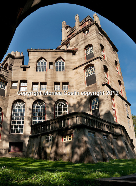 Foothill Castle in Doylestown, PA which was designed and built by Henry Mercer a 19th century anthropologiest and leader in the Arts and Crafts Movement and collected over three thousand items