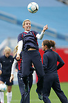 14 April 2007: United States midfielder Aly Wagner, pregame. The United States Women's National Team defeated the Women's National Team of Mexico 5-0 at Gillette Stadium in Foxboro, Massachusetts in an international friendly game.