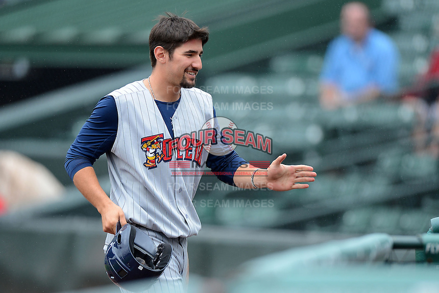 Toledo Mudhens outfielder Nick Castellanos #23 during a game against the Rochester Red Wings on June 11, 2013 at Frontier Field in Rochester, New York.  Toledo defeated Rochester 9-5.  (Mike Janes/Four Seam Images)