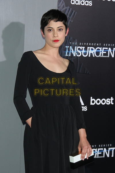 NEW YORK, NY - MARCH 16: Rosa Salazar at the New York premiere of The Divergent Series: Insurgent at the Ziegfeld Theatre in New York City on March 16, 2015. <br /> CAP/MPI/RW<br /> &copy;RW/MPI/Capital Pictures