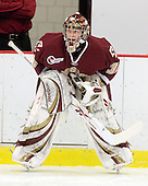 Parker Milner (BC - 35) - The Boston College Eagles defeated the Harvard University Crimson 3-2 on Wednesday, December 9, 2009, at Bright Hockey Center in Cambridge, Massachusetts.