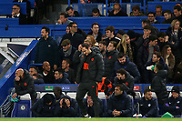 Chelsea Manager, Frank Lampard scratches his head at the final whistle during Chelsea vs AFC Ajax, UEFA Champions League Football at Stamford Bridge on 5th November 2019
