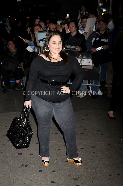 WWW.ACEPIXS.COM . . . . .....May 21, 2008. New York City.....Actress Nikki Blonsky attends the 'Indiana Jones and the Kingdom of the Crystal Skull' screening held at the AMC Lincoln Square Cinemas...  ....Please byline: Kristin Callahan - ACEPIXS.COM..... *** ***..Ace Pictures, Inc:  ..Philip Vaughan (646) 769 0430..e-mail: info@acepixs.com..web: http://www.acepixs.com