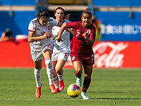 FRISCO, TX - MARCH 11: Nikita Parris #7 of England dribbles during a game between England and Spain at Toyota Stadium on March 11, 2020 in Frisco, Texas.