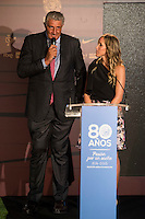 Fernando Romay and Marta Fernandez during the 80th Aniversary of the National Basketball Team at Melia Castilla Hotel, Spain, September 01, 2015. <br /> (ALTERPHOTOS/BorjaB.Hojas) / NortePhoto.Com