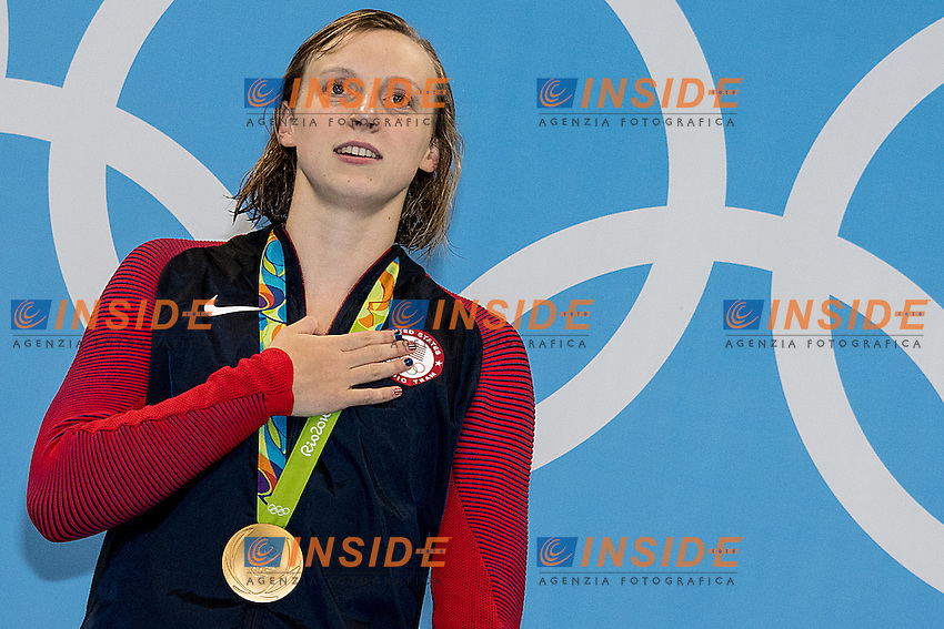 Ledecky Katie USA World Record 3.5646 and Gold medal <br /> 400 freestyle women<br /> Rio de JaneiroXXXI Olympic Games <br /> Olympic Aquatics Stadium <br /> Swimming finals 07/08/2016<br /> Photo Giorgio Scala/Deepbluemedia/Insidefoto