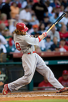 Philadelphia Phillies OF Jayson Werth against the Houston Astros on Turn Back the Clock Nite. Game played on Saturday April 10th, 2010 at Minute Maid Park in Houston, Texas.  (Photo by Andrew Woolley / Four Seam Images)