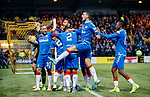 10.11.2019: Livingston v Rangers: Alfredo Morelos mobbed by Rangers team mates after scoring