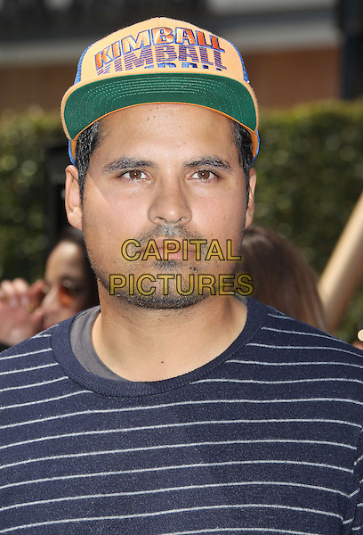 Michael Pena<br /> &quot;Turbo&quot; Party And Pop-Up Concert During E3 Gaming Convention held at Nokia Theatre L.A. Live, Los Angeles, California, USA.<br /> June 12th, 2013<br /> headshot portrait blue stripe baseball cap hat kimball stubble facial hair<br /> CAP/ADM/RE<br /> &copy;Russ Elliot/AdMedia/Capital Pictures