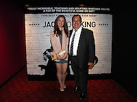 Pictured: Club announcer and chaplain Kevin Johns (R) with his daughter Bethan. Friday 12 September 2014<br />