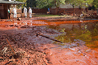 Toxic red sludge flood in Devecser, Hungary