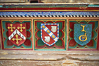 Tomb of John Drokensford, Bishop of Baths & Wells 1309-1329 & Treasurer of England in the medieval Wells Cathedral built in the Early English Gothic style in 1175, Wells Somerset, England