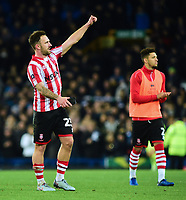 Lincoln City's Neal Eardley acknowledges the fans at the final whistle<br /> <br /> Photographer Andrew Vaughan/CameraSport<br /> <br /> Emirates FA Cup Third Round - Everton v Lincoln City - Saturday 5th January 2019 - Goodison Park - Liverpool<br />  <br /> World Copyright &copy; 2019 CameraSport. All rights reserved. 43 Linden Ave. Countesthorpe. Leicester. England. LE8 5PG - Tel: +44 (0) 116 277 4147 - admin@camerasport.com - www.camerasport.com