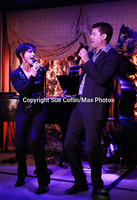 "As The World Turns Colleen Zenk stars in her one-woman cabaret show ""Colleen Zenk - Still Sassy"" with special guest Trent Dawson on October 30, 2011 at Feinstein's at Loews Regency, New York City, New York. They sang together and shared stories.  (Photo by Sue Coflin/Max Photos)"
