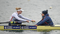 Caversham. Berkshire. UK<br /> GBR W8+. left Zeo LEE and Cox, Zoe de TOLEDO.<br /> 2016 GBRowing European Team Announcement,  <br /> <br /> Wednesday  06/04/2016 <br /> <br /> [Mandatory Credit; Peter SPURRIER/Intersport-images]