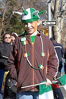 Marchers in the Ninth Annual Sunnyside, Queens Saint Patrick's Day Parade. Started as an alternative to the NYC parade which barred gays and lesbians, the all-inclusive parade welcomes many different groups and embraces NYC diversity.
