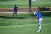 Tiger Woods (USA) hits his approach shot on 9 during 3rd round of the 100th PGA Championship at Bellerive Country Club, St. Louis, Missouri. 8/11/2018.<br /> Picture: Golffile | Ken Murray<br /> <br /> All photo usage must carry mandatory copyright credit (&copy; Golffile | Ken Murray)