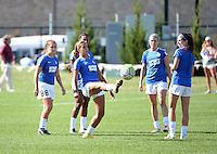 Kansas City, MO - Sunday September 04, 2016: FC Kansas City  prior to a regular season National Women's Soccer League (NWSL) match between FC Kansas City and the Sky Blue FC at Swope Soccer Village.