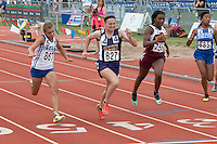 Kelly Sr. Dakaria Johnson (#755) spirnts to a 3rd-place finish in the Class 2 100-meter dash in 12.44 seconds.